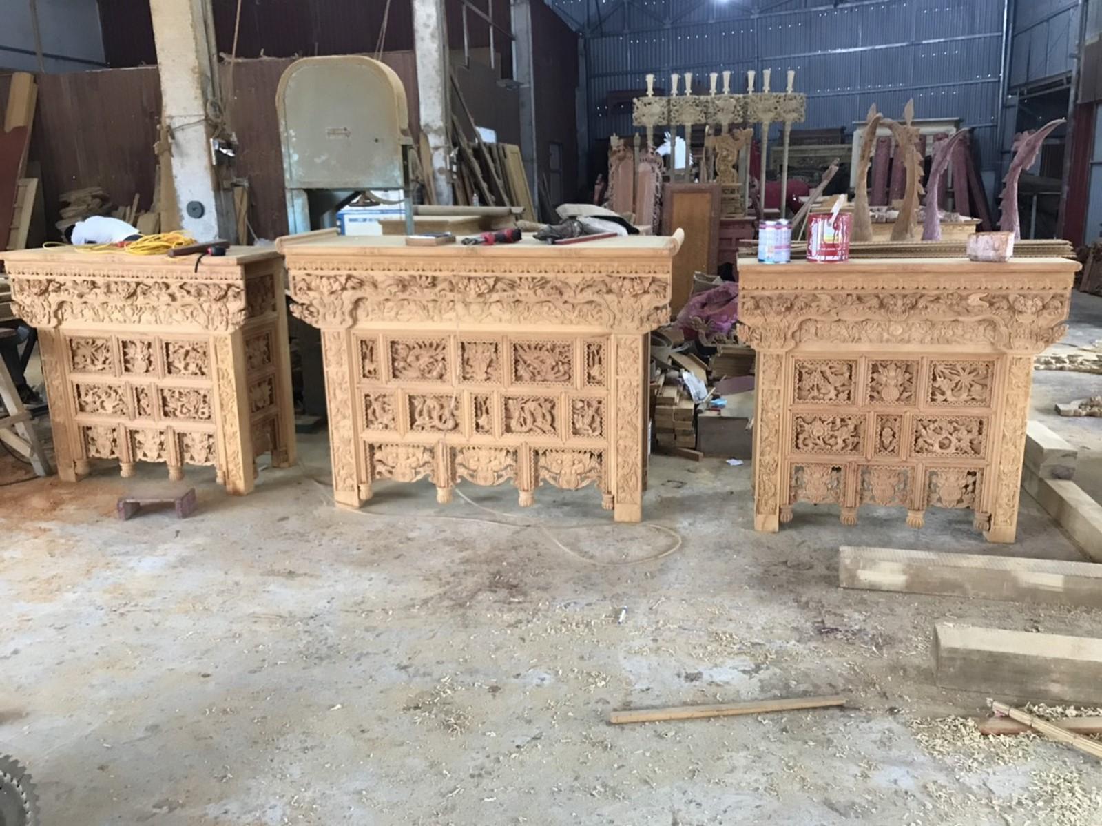 Xưởng sản xuất bàn thờ đồ thờ sơn son thiếp vàng