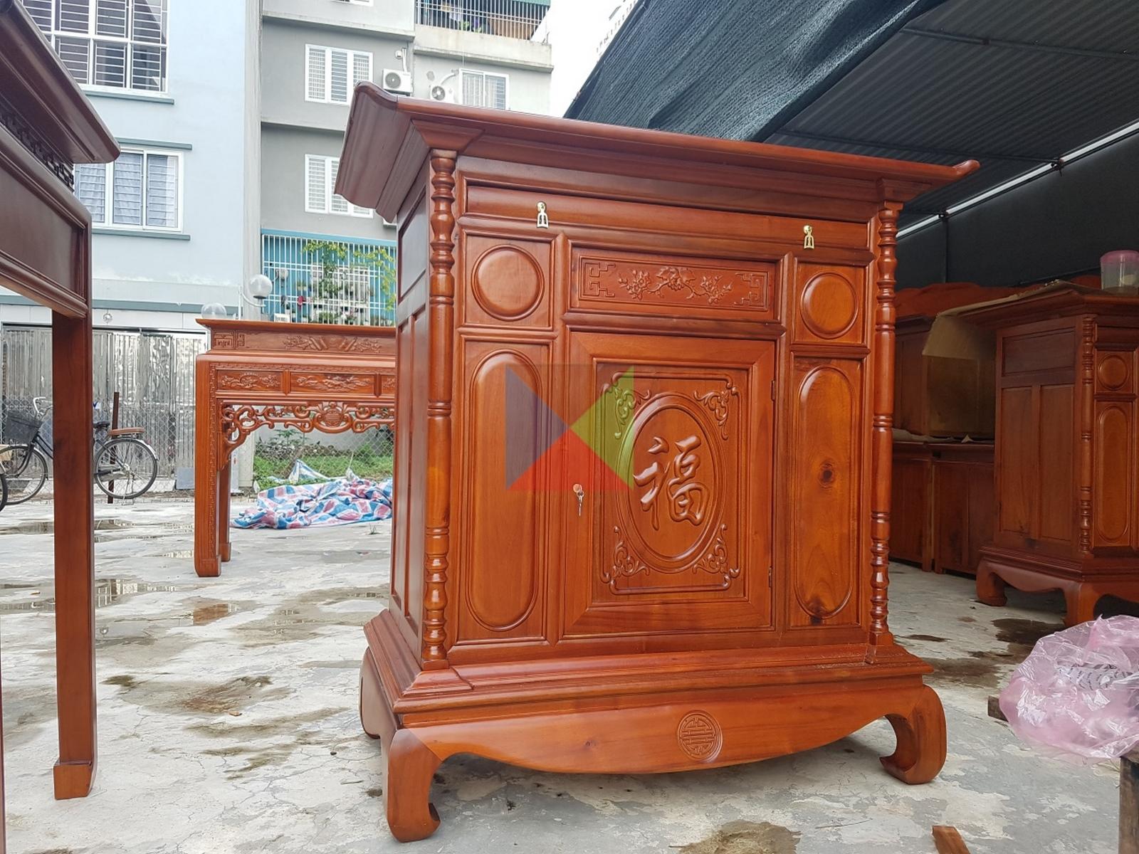 Tủ thờ gỗ tràm kích thước 107;127;155; 175 và 197