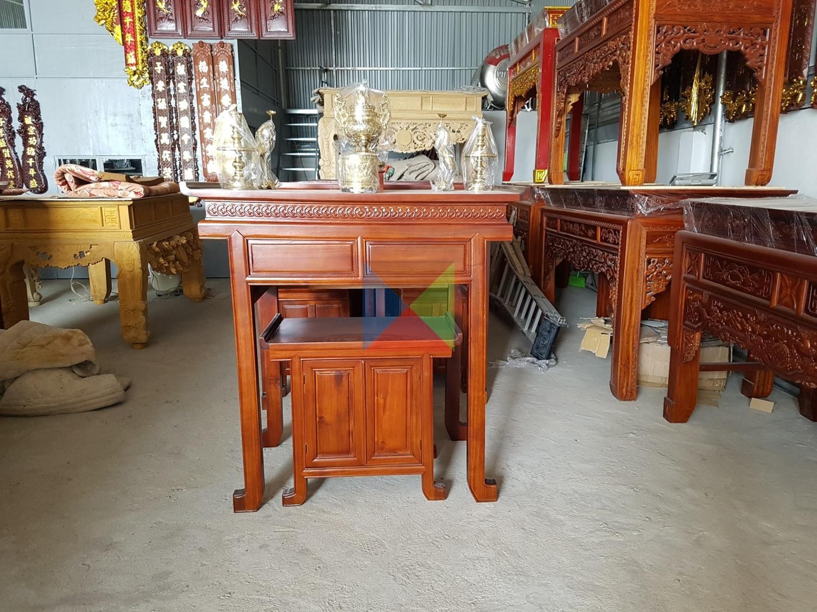 bộ kẹp bàn - tủ cho căn hộ nhà chung cư gỗ tràm