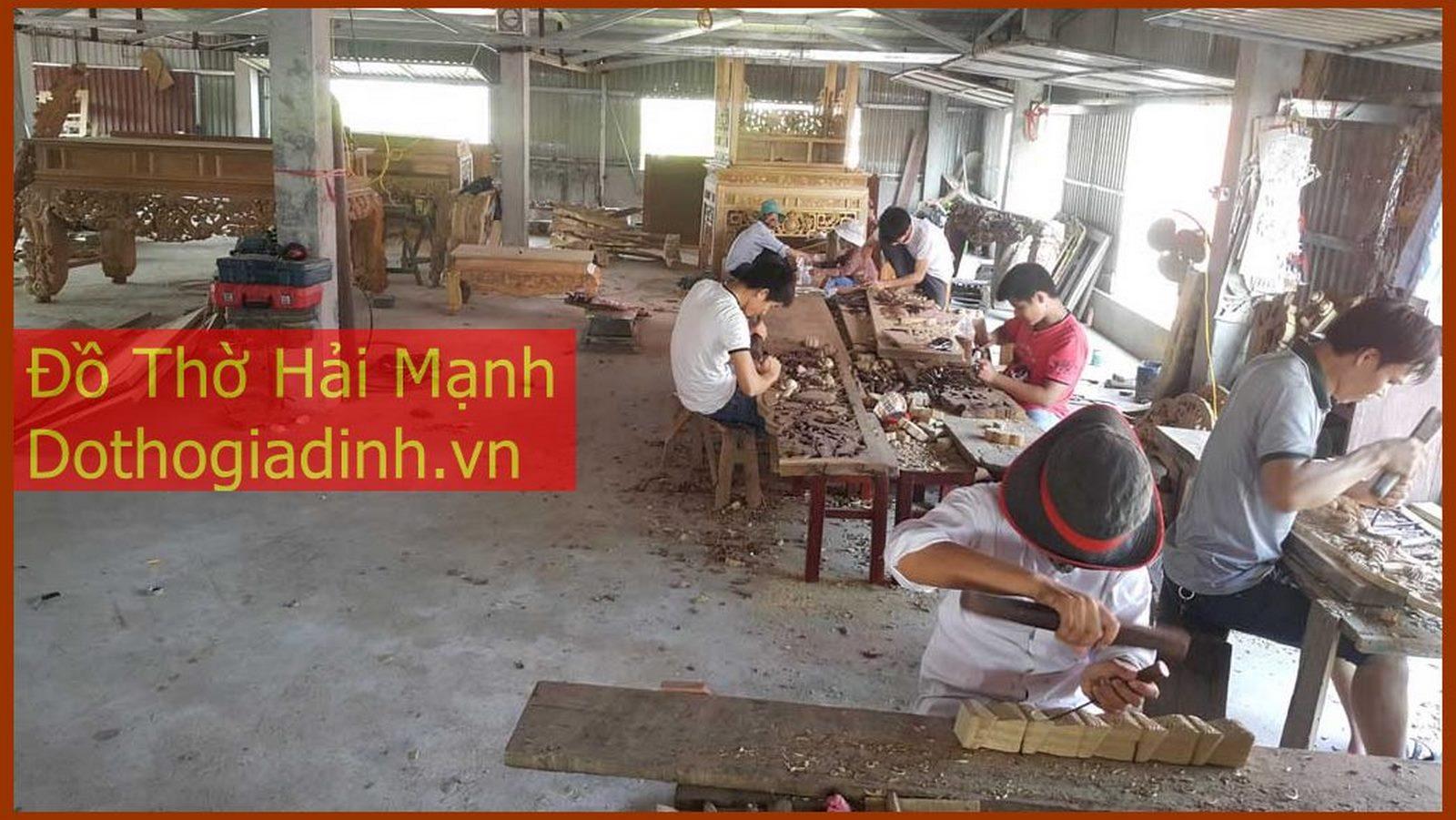 Đồ Thờ Hải Mạnh - Chuyên sản xuất bàn thờ, tủ thờ và các loại đồ thờ cúng truyền thống và hiện đại
