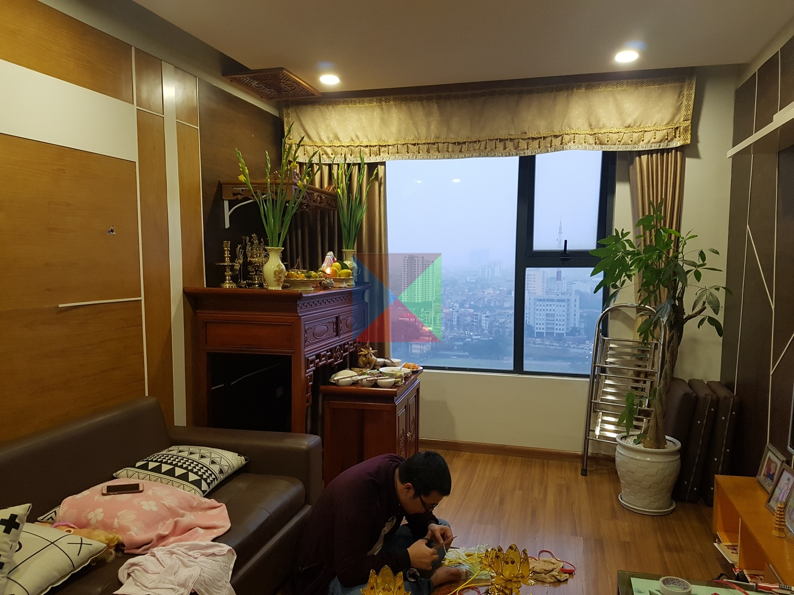 Gian thờ trong nội thất căn hộ