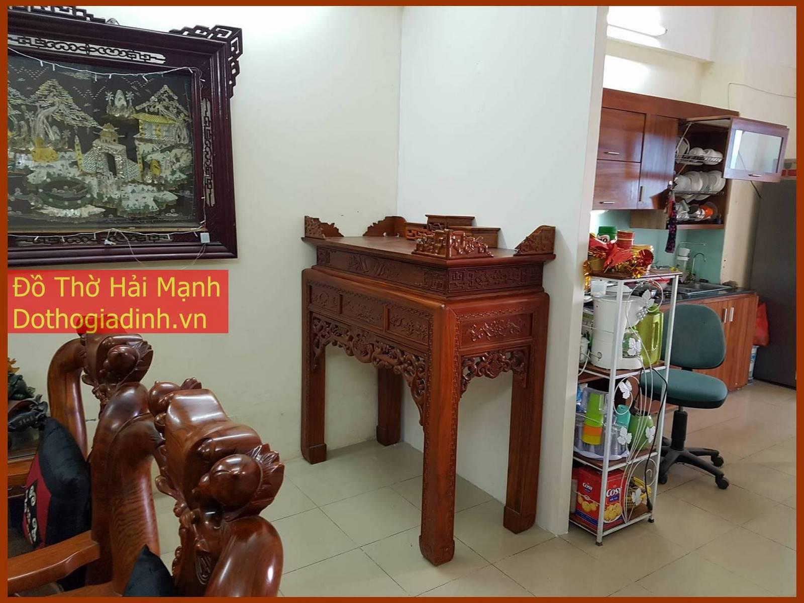 bàn thờ triện gỗ hương vân