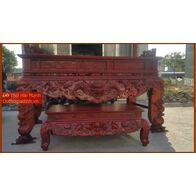 Sập thờ, bàn thờ chân quỳ gỗ dổi DT22HM02
