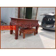 Sập thờ, bàn thờ chân quỳ gỗ dổi DC22HM02