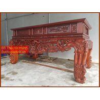 Sập thờ, bàn thờ chân quỳ gỗ dổi DC22HM01
