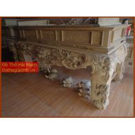 Sập thờ, bàn thờ chân quỳ gỗ gụ GT22HM02