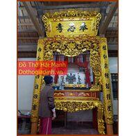 Cửa võng gỗ đẹp sơn son thếp vàng 2