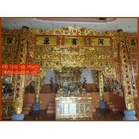 Bộ cửa võng đẹp cho đình chùa, từ đường, gia tiên 11