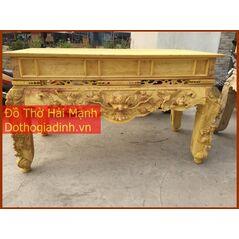 Sập thờ, bàn thờ chân quỳ gỗ mít MT18HM01