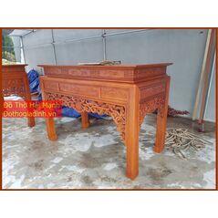 Bàn thờ triện gỗ hương vân 176
