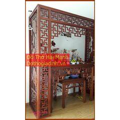 Vách ngăn phòng thờ CNC gỗ công nghiệp 5
