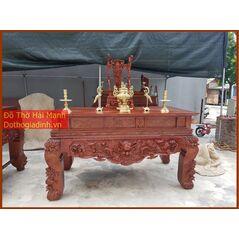 Sập thờ, bàn thờ chân quỳ chân quỳ gỗ dổi DT20HM01