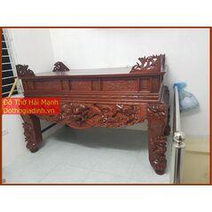 Sập thờ, bàn thờ chân quỳ gỗ dổi DT18HM01