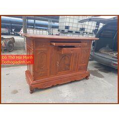 Tủ thờ dài 197 gỗ tràm lõi