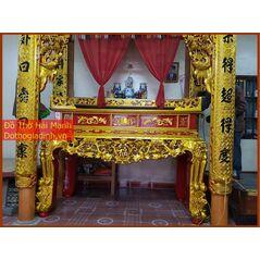 Sập thờ, bàn thờ chân quỳ gỗ mít MT20HM01