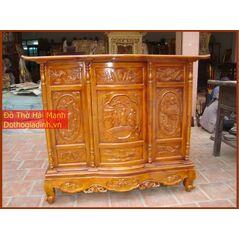 Tủ thờ gỗ mít kích thước 155