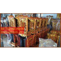 Khám thờ gia tiên mẫu Khám trung gỗ mít