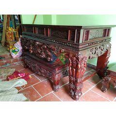 Sập thờ dạ cây Phúc Lộc Thọ HM244S