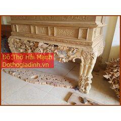 Sập thờ, bàn thờ chân quỳ gỗ mít MC22HM01