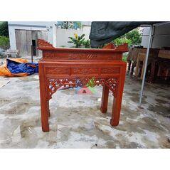 Mẫu bàn thờ đẹp dạ như ý, chân vuông HMBT127V