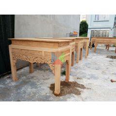 Bàn thờ gỗ gụ đẹp dạ như ý, chân vuông HMBT175V