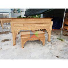 Bàn thờ gia đình mẫu bàn triện dạ như ý, chân guột HMBT175G