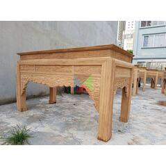 Bàn thờ gia tiên mẫu triện dạ như ý, chân vuông HMBT217V