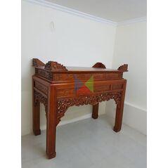 Bàn thờ gia đình mẫu bàn triện dạ như ý, chân vuông HMBT155V