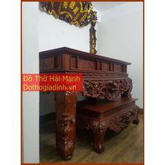 Sập thờ, bàn thờ chân quỳ gỗ mít MT22HM01
