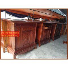 Tủ thờ gia tiên dài 155 gỗ tràm lõi