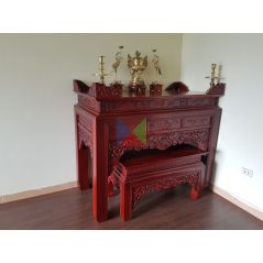 Mẫu bàn thờ đẹp dạ như ý, chân vuông HMBT155V