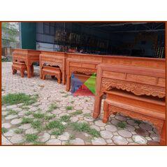 Bàn thờ gia đình mẫu bàn triện dạ như ý, chân guột HMBT155G