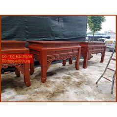 * Bàn thờ gia tiên mẫu triện gỗ hương đỏ 197