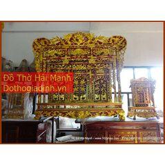 Khám thờ gia tiên mẫu Khám gian gỗ mít (khám 150)