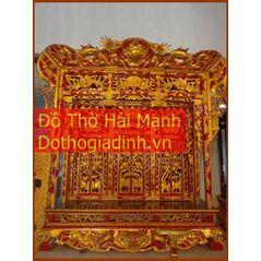 Khám thờ gia tiên mẫu Khám gian gỗ dổi (khám 120)