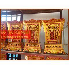 Khám thờ gia tiên mẫu Khám tiểu gỗ vàng tâm