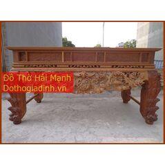 Sập thờ, bàn thờ chân quỳ gỗ mít GC22HM03