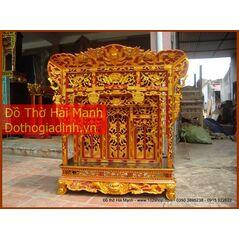 Khám gian thờ gỗ vàng tâm (khám 120)