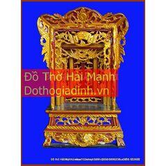 Khám thờ gia tiên mẫu Khám trung gỗ vàng tâm