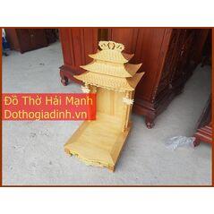 Bàn thờ thần tài - Lầu thần tài mái chùa 56
