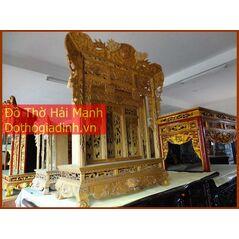 Khám gian thờ gỗ vàng tâm (khám 90)