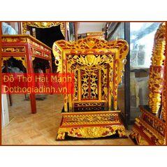 Khám thờ gia tiên mẫu Khám đại gỗ vàng tâm