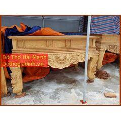 Sập thờ, bàn thờ chân quỳ gỗ mít HM36