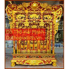 Khám thờ gia tiên mẫu Khám gian gỗ mít (khám 90)