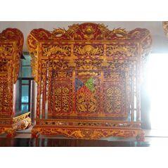 Khám thờ gia tiên mẫu Khám gian gỗ dổi (khám 150)