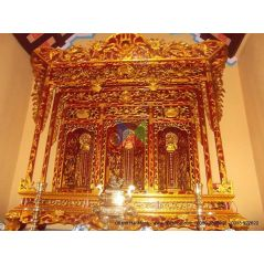 Khám thờ gia tiên mẫu Khám gian gỗ vàng tâm (khám 150)