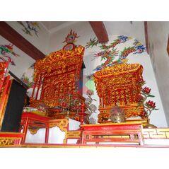 Khám thờ gia tiên mẫu Khám gian gỗ vàng tâm (khám 120)