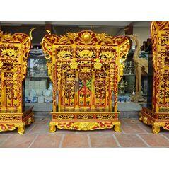 Khám thờ gia tiên mẫu Khám gian gỗ dổi (khám 90)