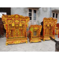 Khám thờ gia tiên mẫu Khám gian gỗ vàng tâm (khám 90)