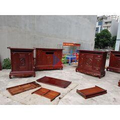 Tủ thờ dài 176 gỗ tràm lõi